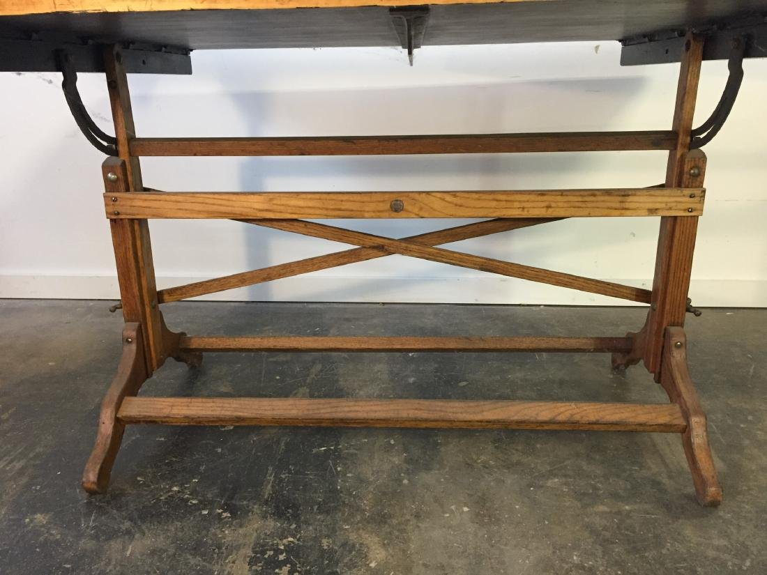 Large Vintage Drafting Table - 2