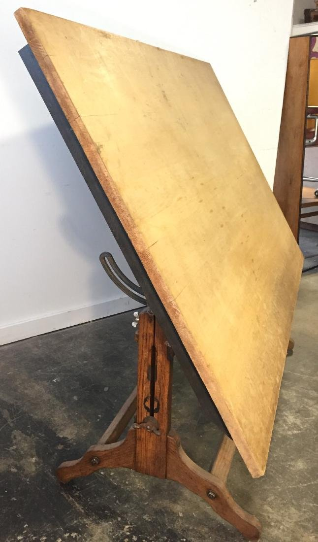 Large Vintage Drafting Table - 5