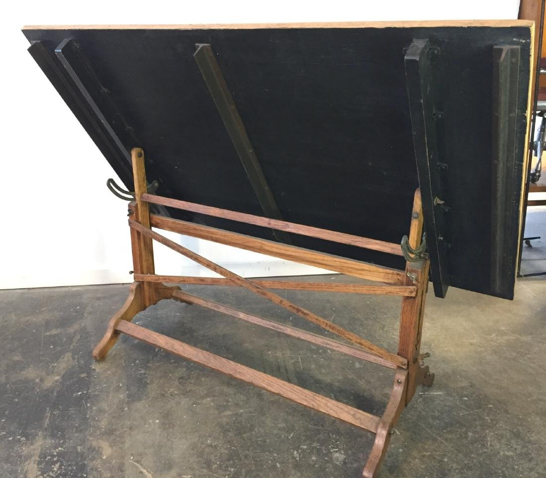 Large Vintage Drafting Table - 6