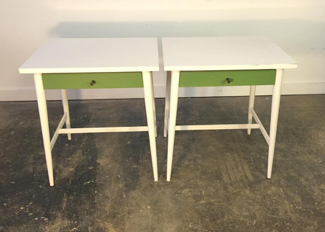 Pair Paul McCobb One Drawer Stands