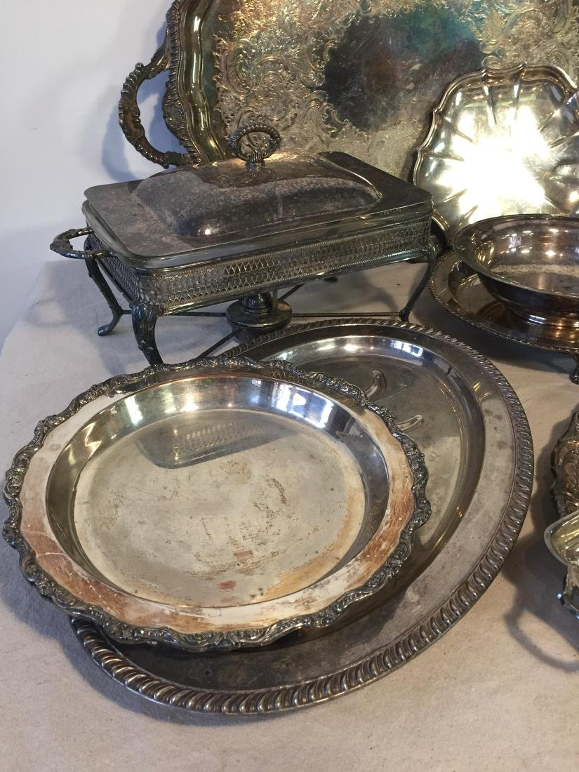 Large Lot Silver Plate Serving Pieces - 4
