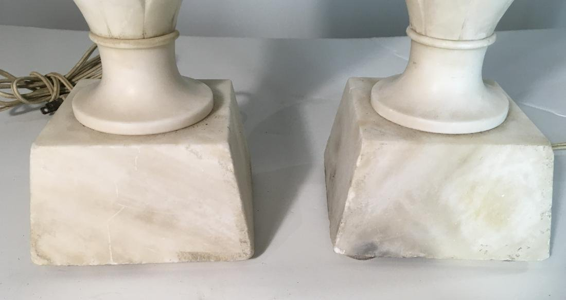 Pair Vintage Marble Lamps - 3