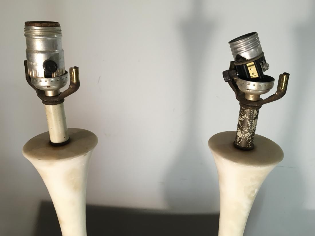 Pair Vintage Marble Lamps - 6