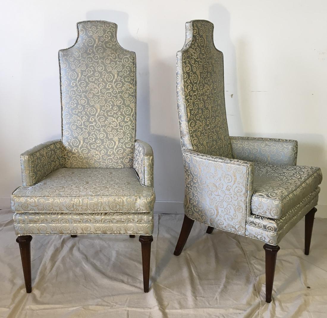 Pair Hollywood Regency Armchairs