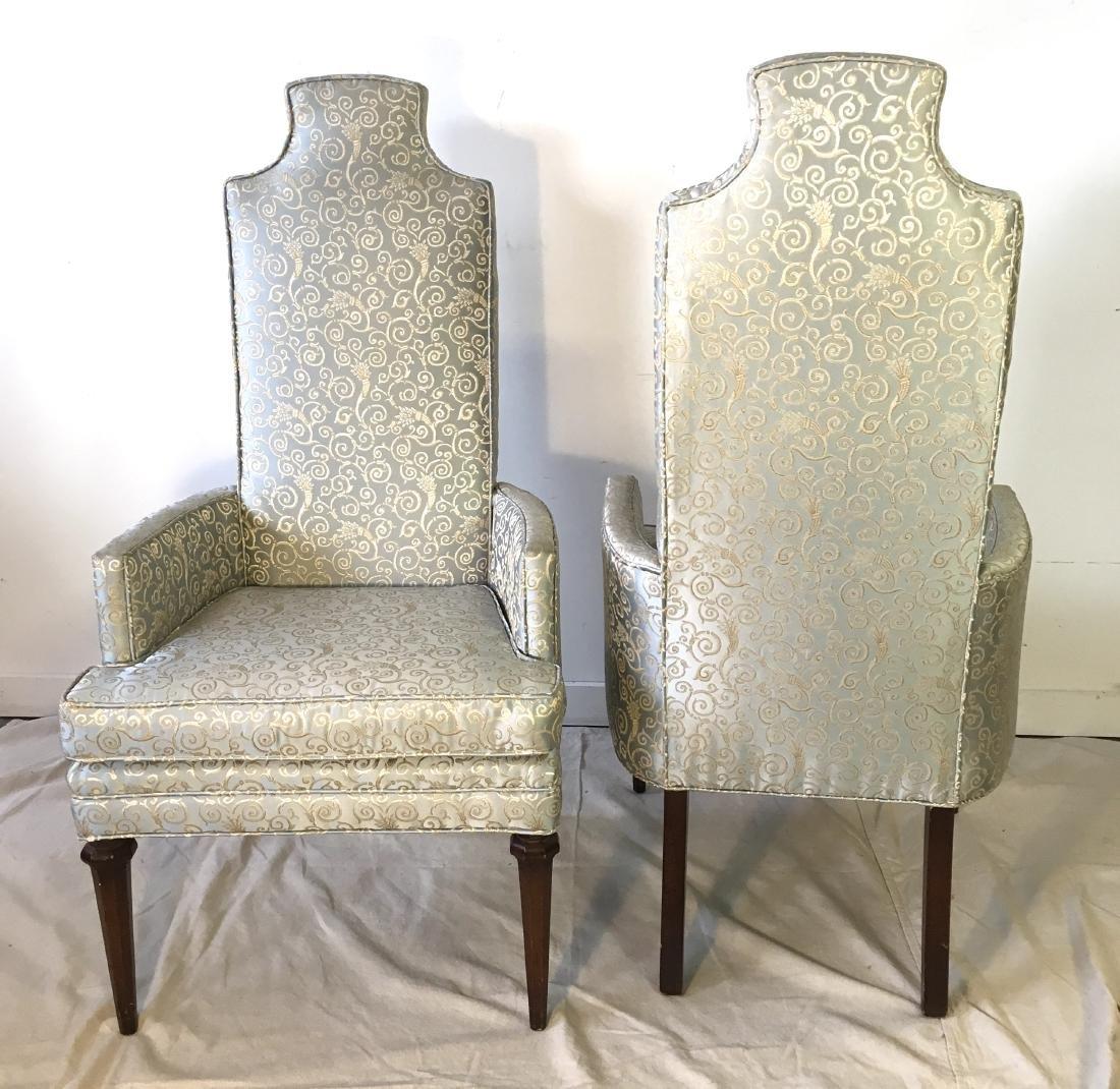Pair Hollywood Regency Armchairs - 2