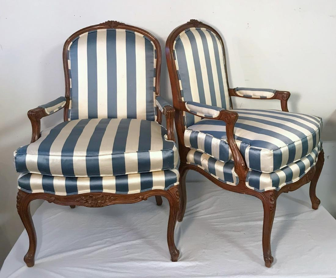 French Provincial Chair >> Pair Of French Provincial Chairs