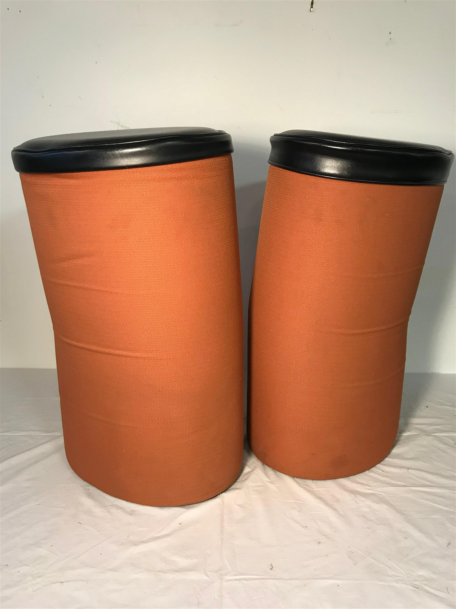"""Pair """"Cushed Can"""" Stools by Steelcase pair 1"""