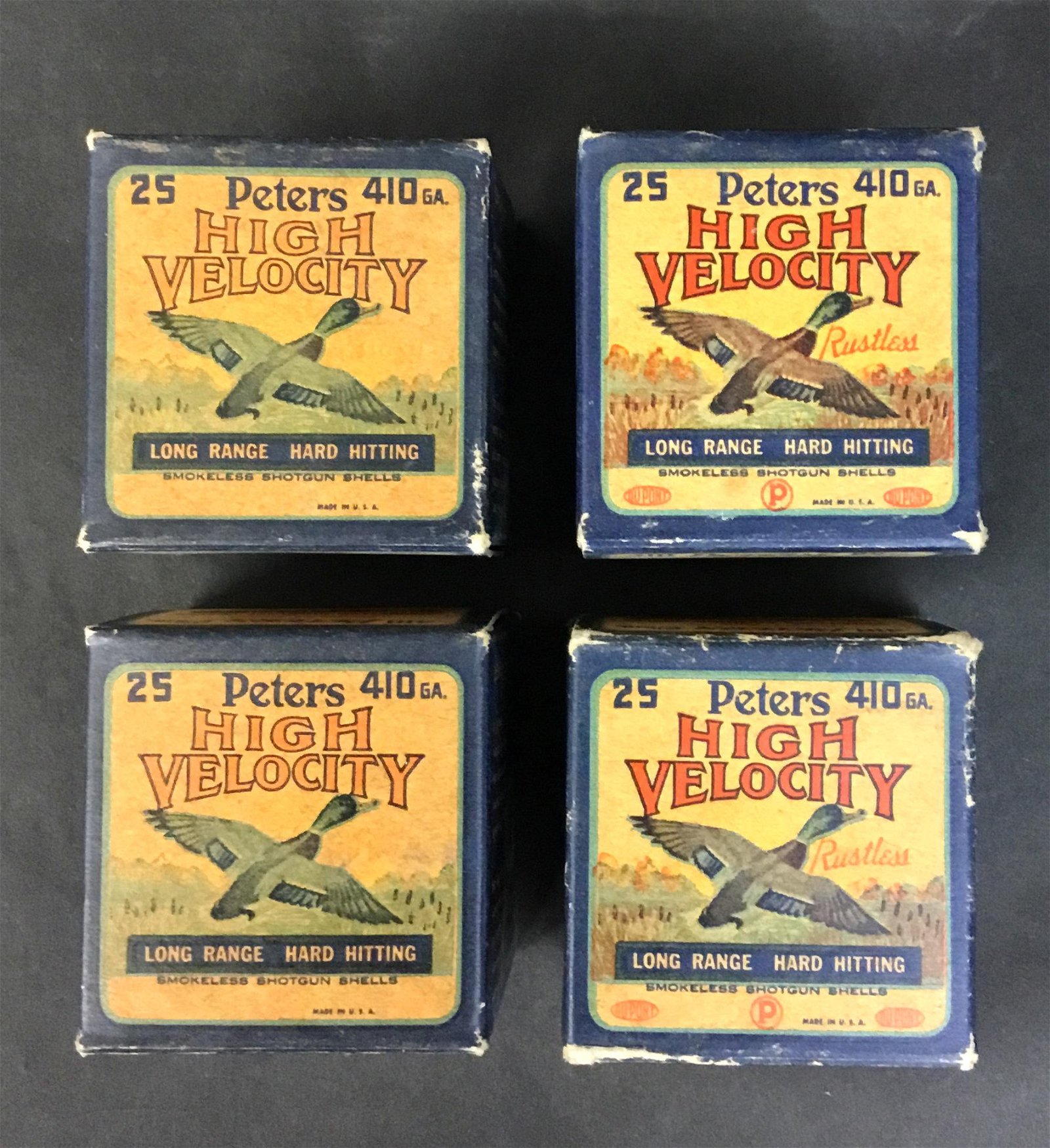 Four Boxes Vintage Peters 410 Ammo