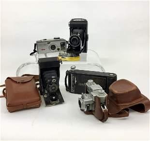 Lot Vintage Kodak Cameras Vigilant Brownie Autographic