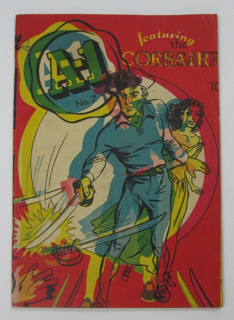 A-1 Comics feat. Corsair #7 RARE Printing Error Cover