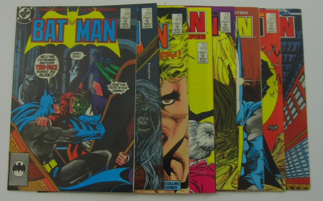 Batman (8) Copper Age Comics all 2nd and 3rd Printings