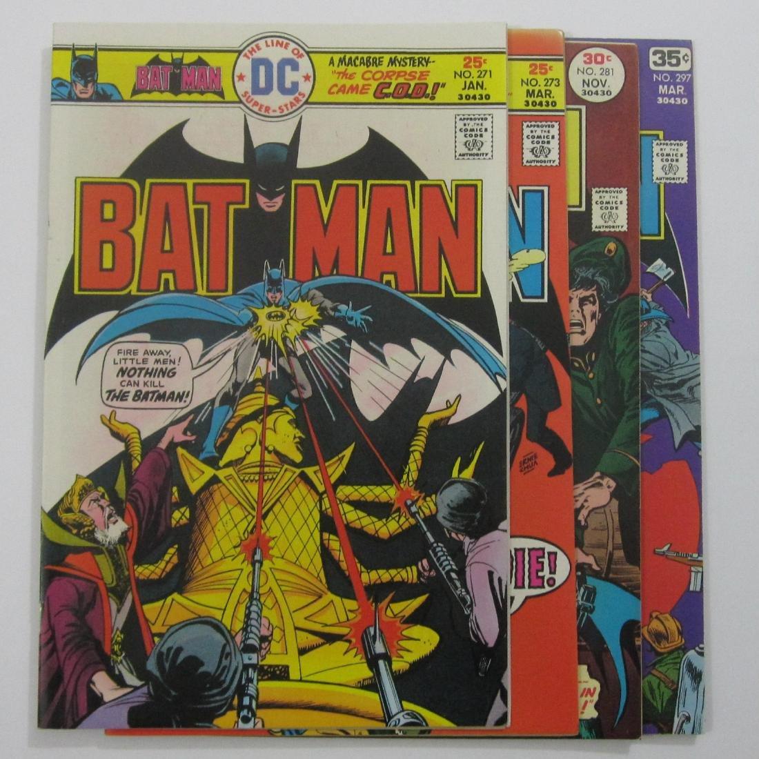 Batman Comics (DC) #271, 273, 281 & 297