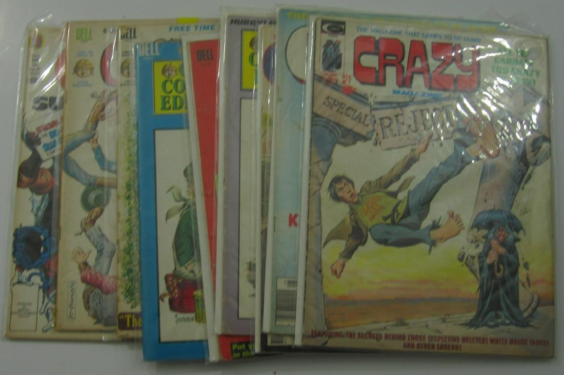 Crazy and Cracked Magazines (8) issues