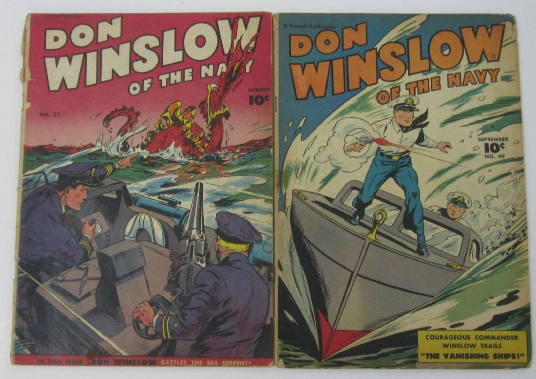 Don Winslow Of The Navy #37 & 49 (Fawcett)
