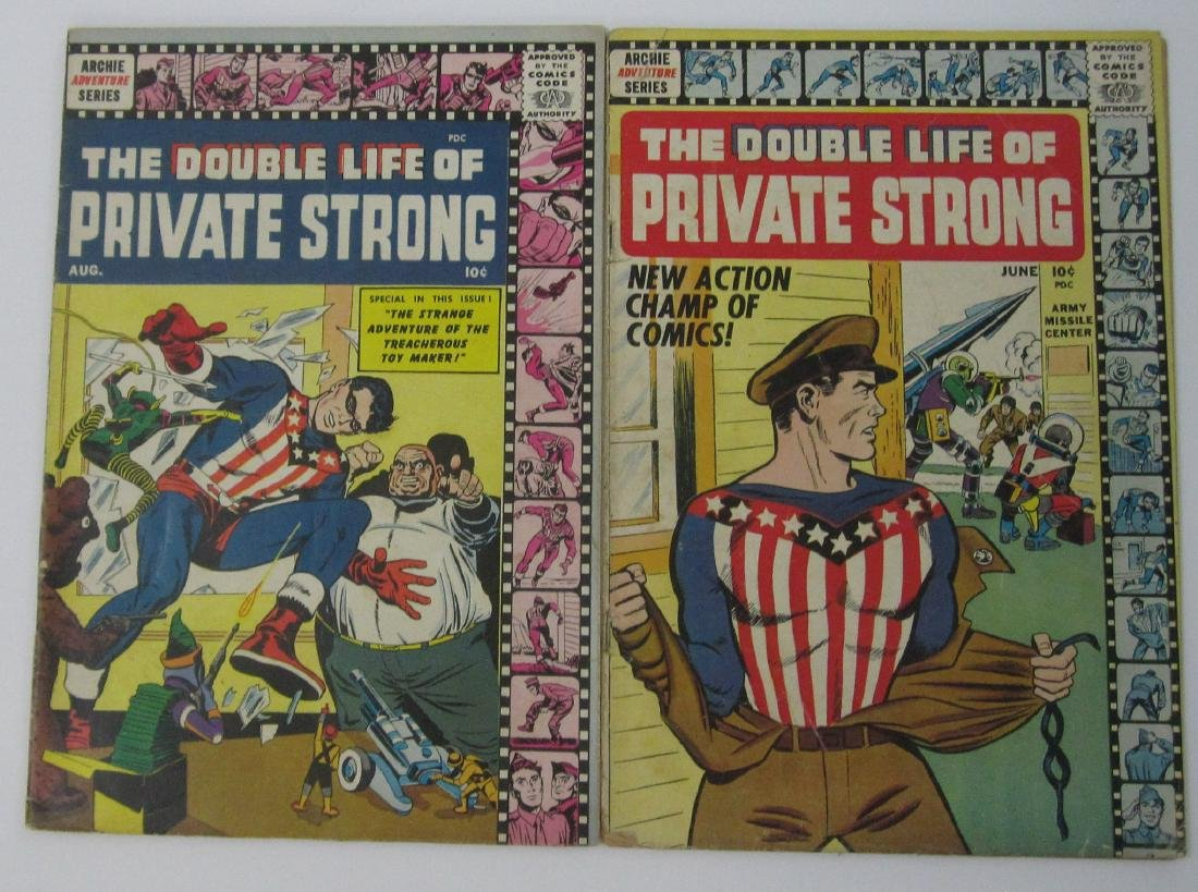 Double Life of Private Strong #1 & 2 Simon & Kirby