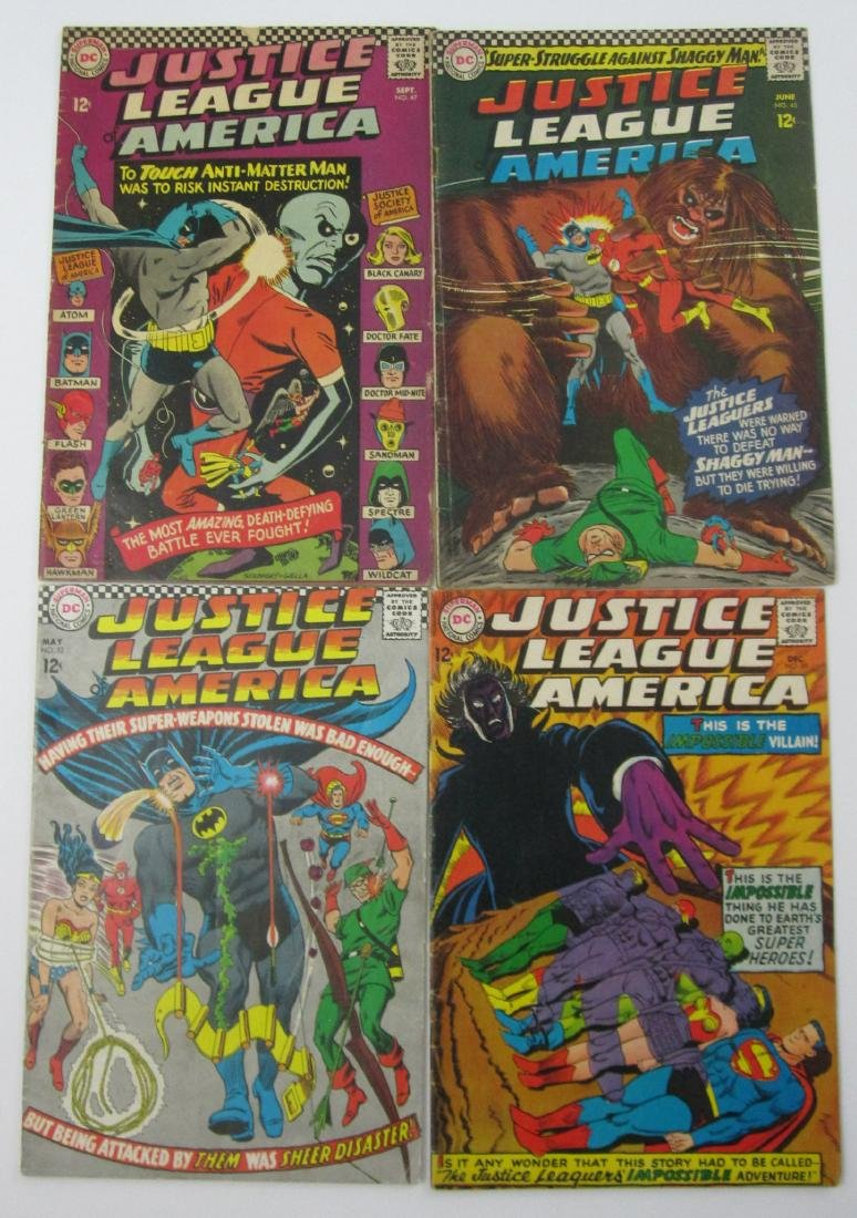 Justice League of America #45, 47 , 53 & 59