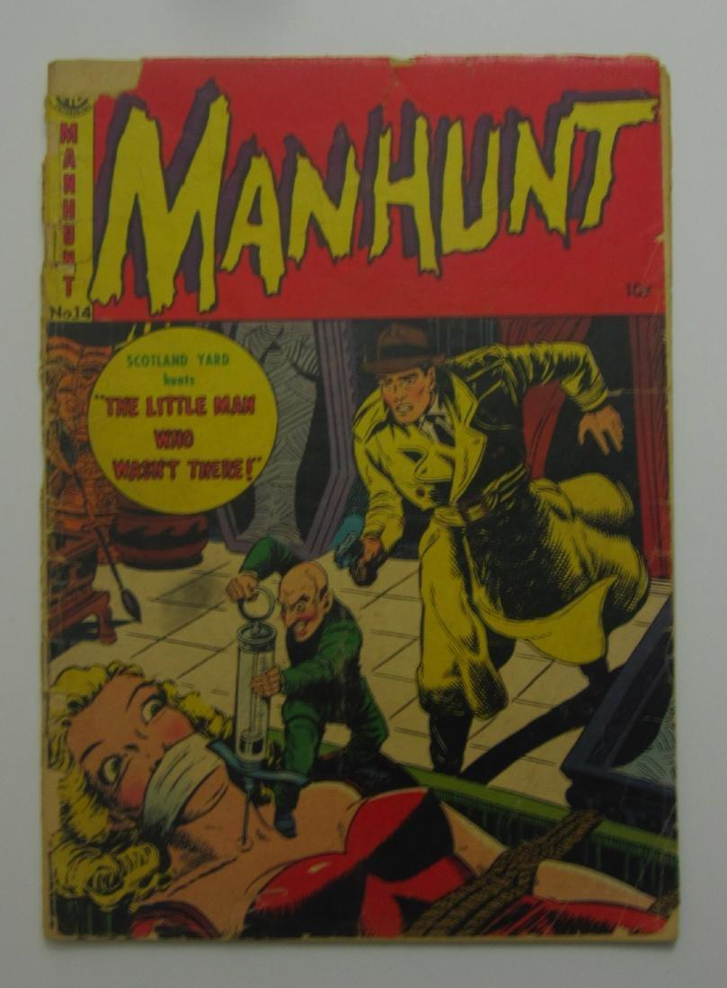 Manhunt #14 (1953) RARE Bondage/Hypo Needle Cover