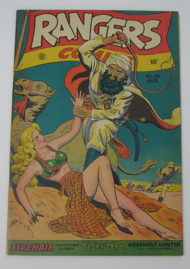 Rangers Comics #36 (Aug 1947, Fiction House) Matt Baker