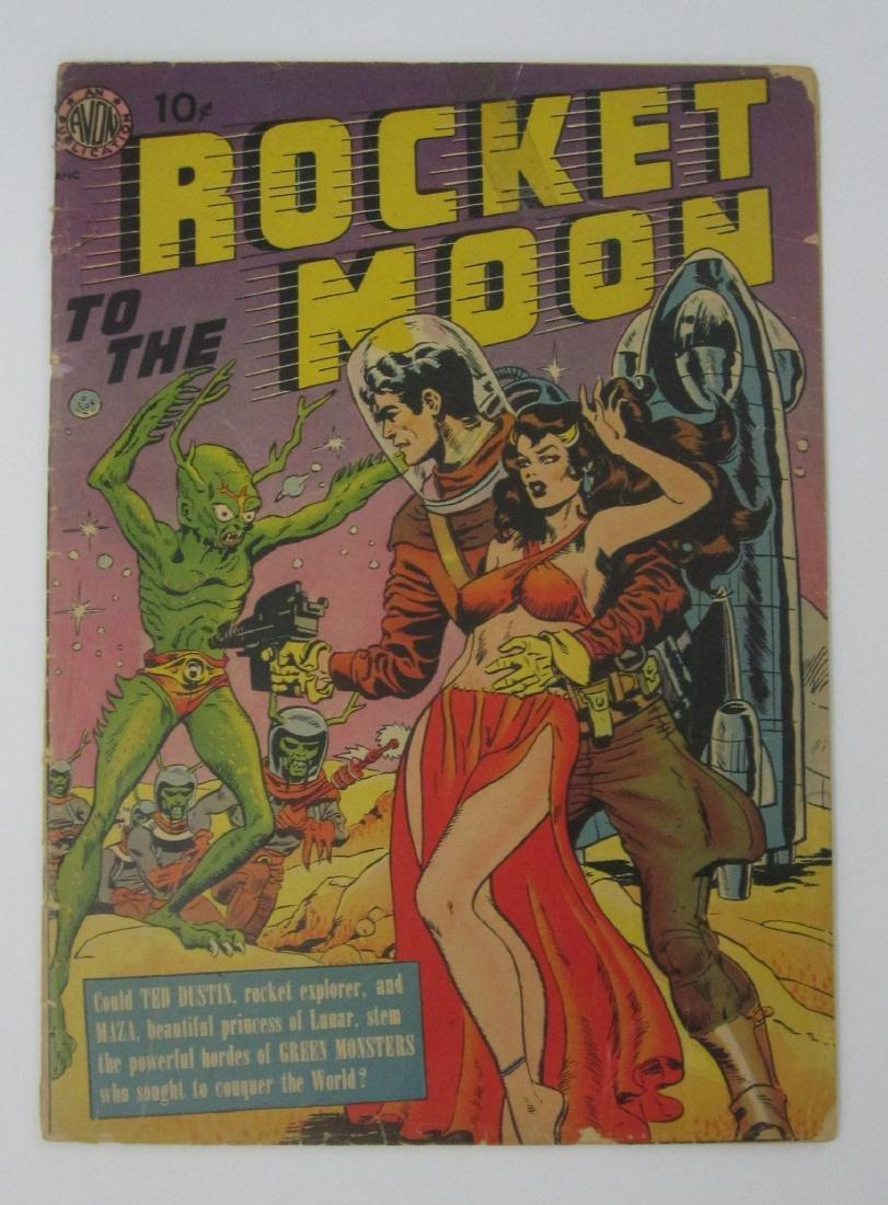 Rocket to the Moon (1951, Avon) Joe Orlando art