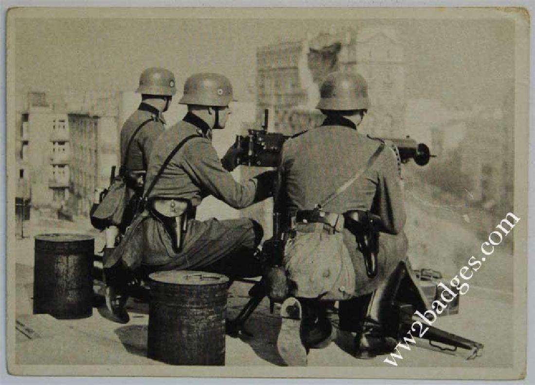 German WW2 Polizei Postcard w. Weapons, 1939 - 1940