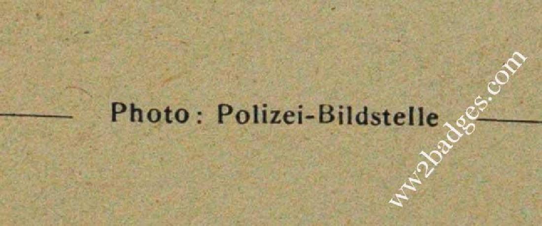 German WW2 Polizei Postcard w. Weapons, 1939 - 1940 - 6