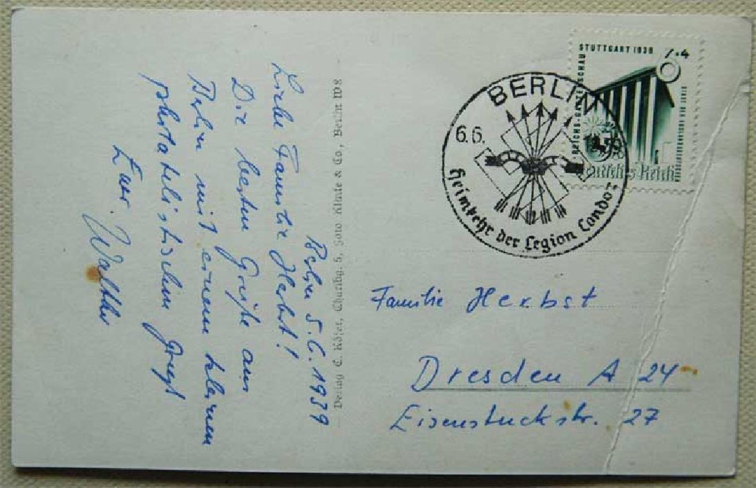 German WW2 Postcard LEGION CONDOR, 1939 - 2
