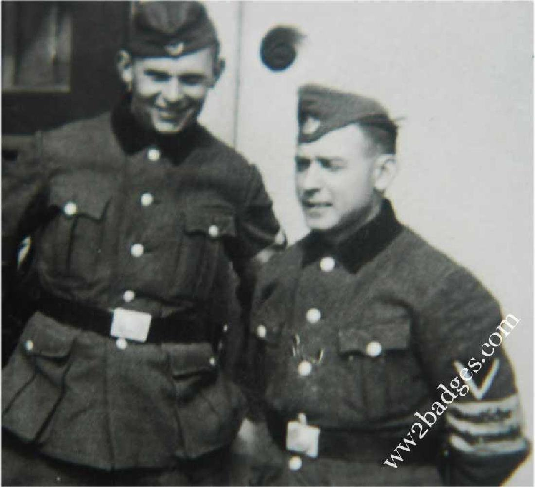 German WW2 Photo Chech Volunteer w. Armband, 1943 - 2