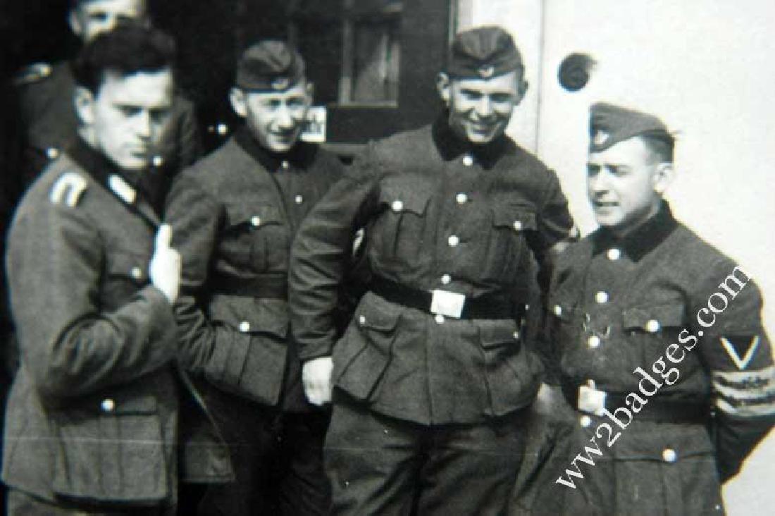 German WW2 Photo Chech Volunteer w. Armband, 1943 - 4