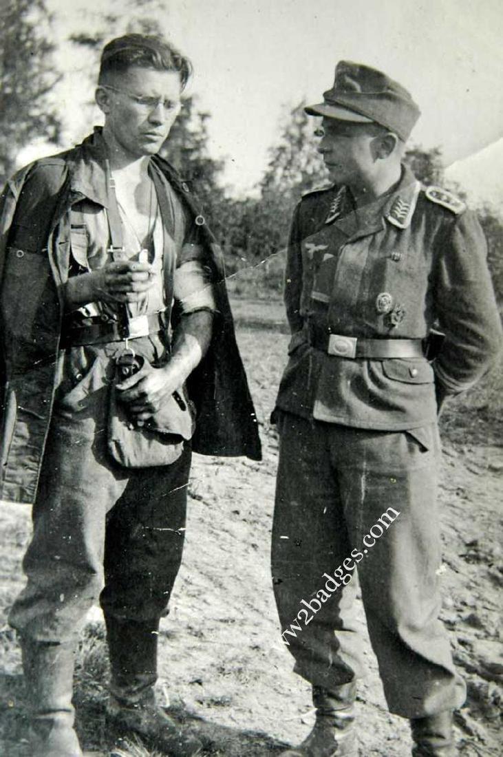 German WW2 photo w. Legion Condor Tank BADGE
