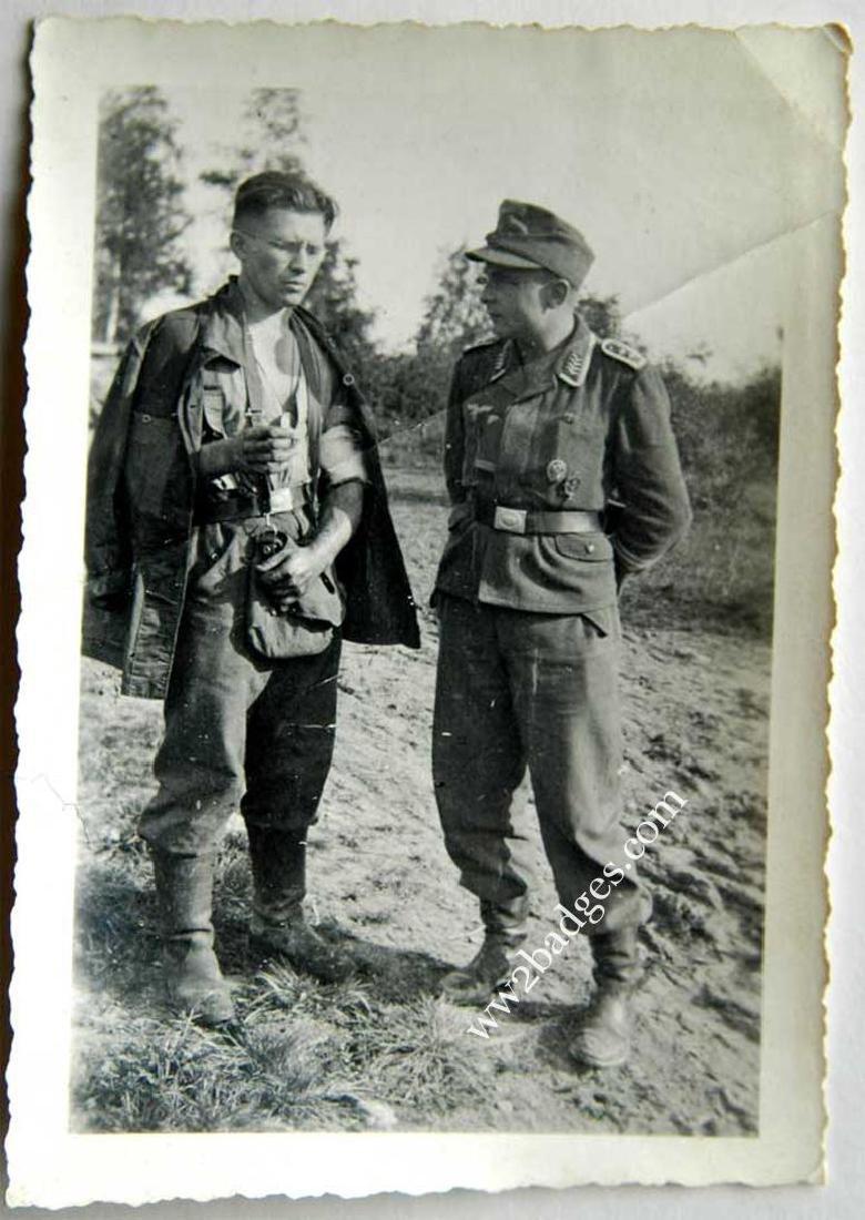German WW2 photo w. Legion Condor Tank BADGE - 2