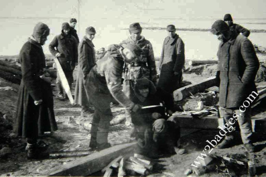 Concentration Camp Lager Military Captured, KZ - 3