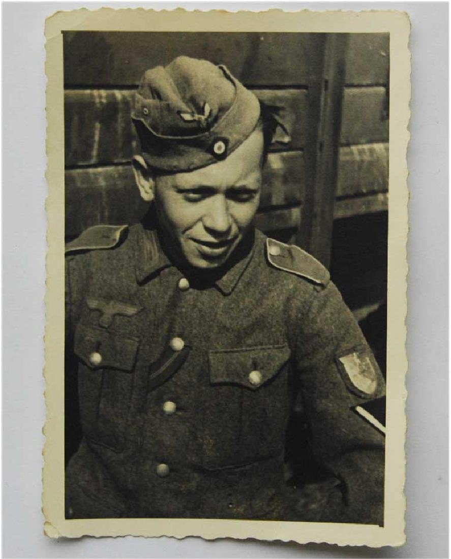 German WW2 Photo of Soldier w. Krim Shield, 1943
