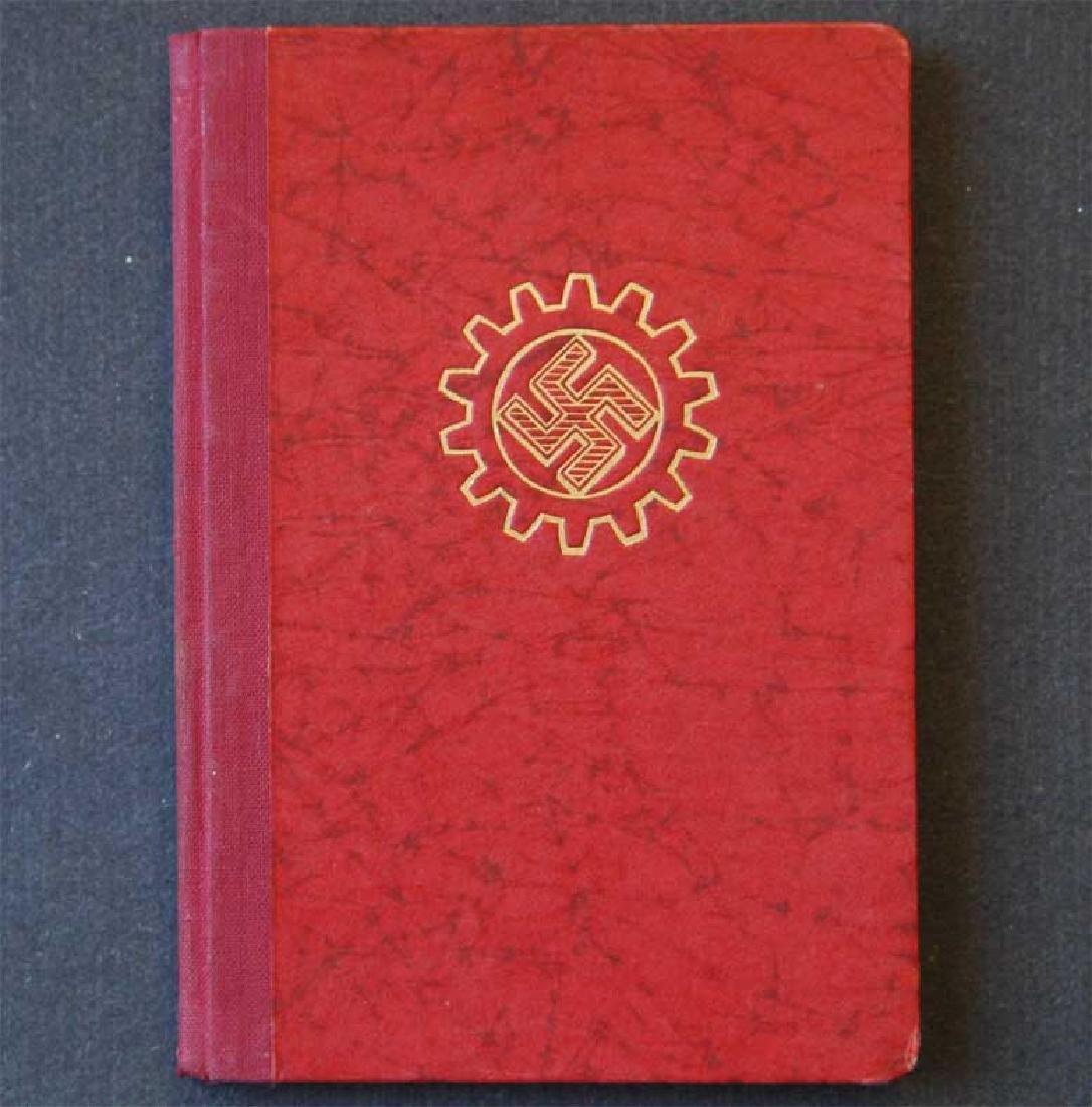 German WW2 ARBEITSFRONT BOOK fr. MAUTHAUSEN KL