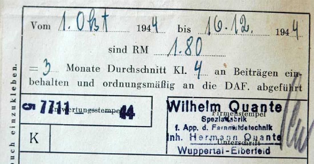 German WW2 ARBEITSFRONT BOOK fr. MAUTHAUSEN KL - 9