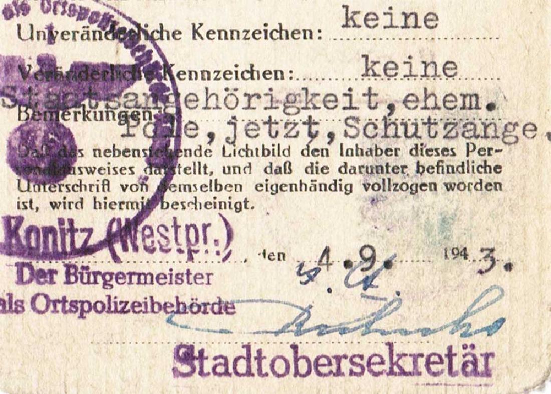 German WW2 Ausweis ID for Polish, 1943 - 5