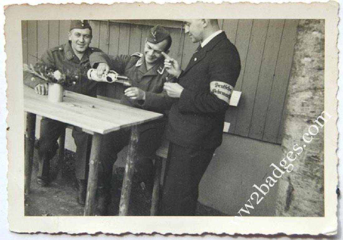 German WW2 Photo w. Armband Deutche Wehrmacht - 2