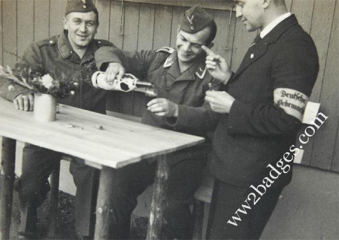 German WW2 Photo w. Armband Deutche Wehrmacht - 3