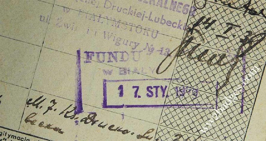 Polish WW2 passport ID with photo, stamped - 9