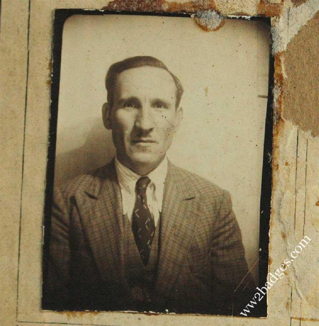 Polish WW2 passport ID with photo, stamped - 4
