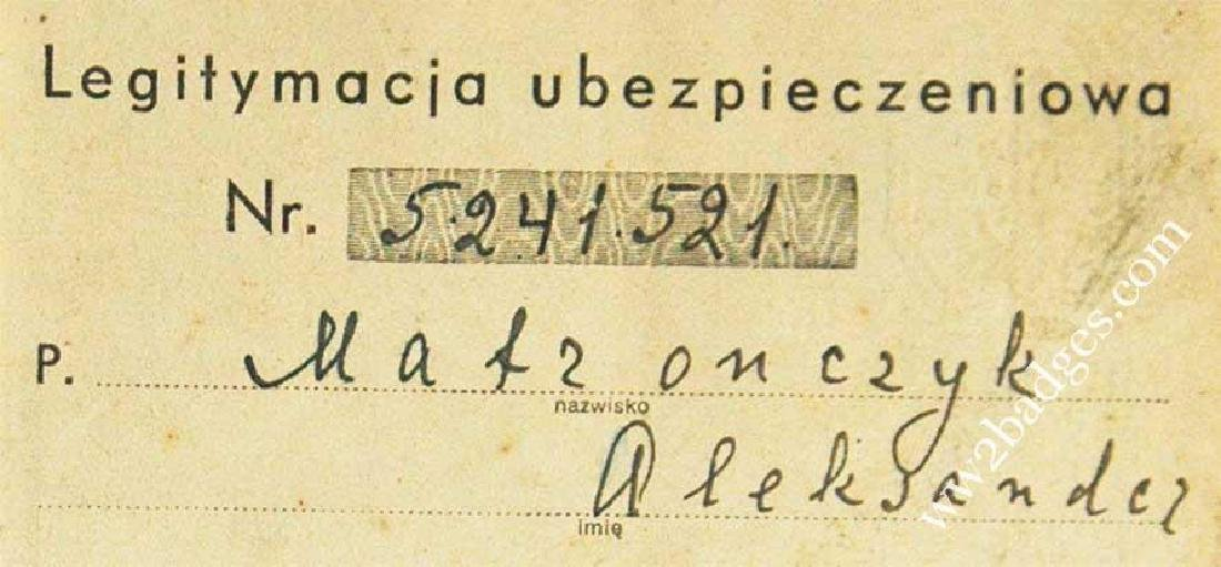 Polish WW2 passport ID with photo, stamped - 5