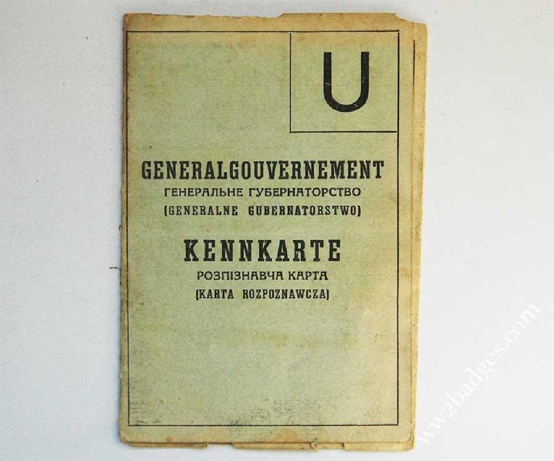UKRAINIAN WW2 ID for ex concentration camp prisoner