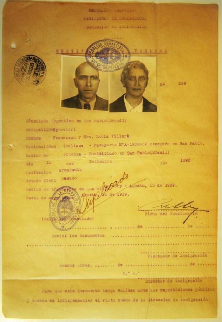 Original Rare Jewish WW2 VISA DOCUMENT - 2