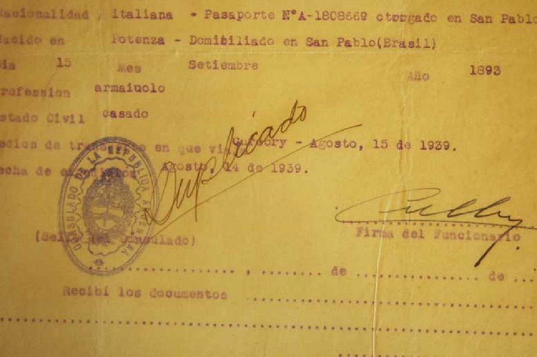 Original Rare Jewish WW2 VISA DOCUMENT - 4