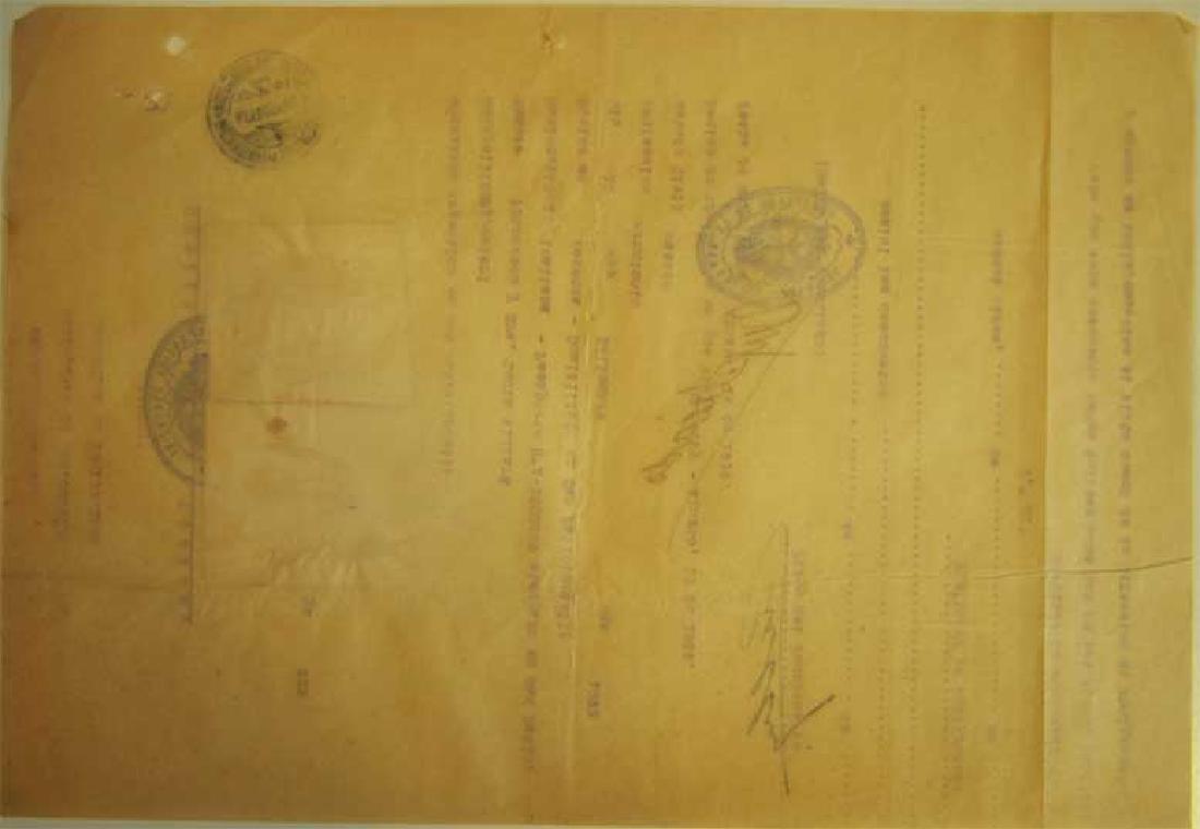 Original Rare Jewish WW2 VISA DOCUMENT - 5