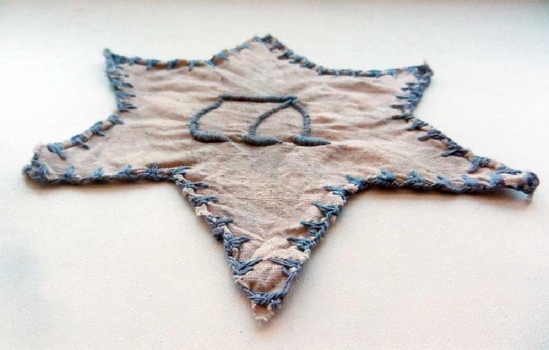 Original Jewish WW2 Star of David from Litzmannstadt - 2