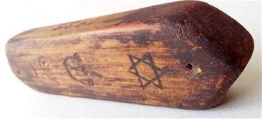 Original Jewish WW2 MEZUZAH, Litzmannstadt 1939