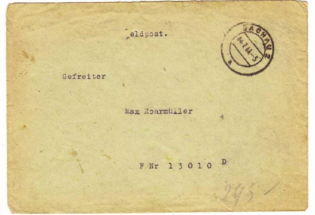 German WW2 Envelope Corporal, DACHAU 1944 - 9