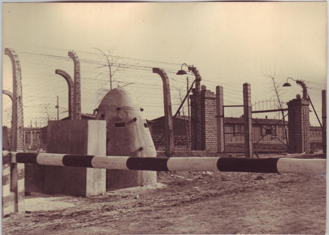 German WW2 STOP Sign w. Skull & Bones, KL, KZ - 10