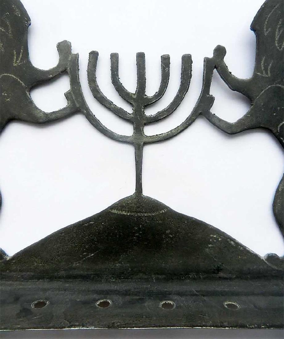 Original Jewish WW2 Hanukkah LIONs w. Menorah, 1942 - 6
