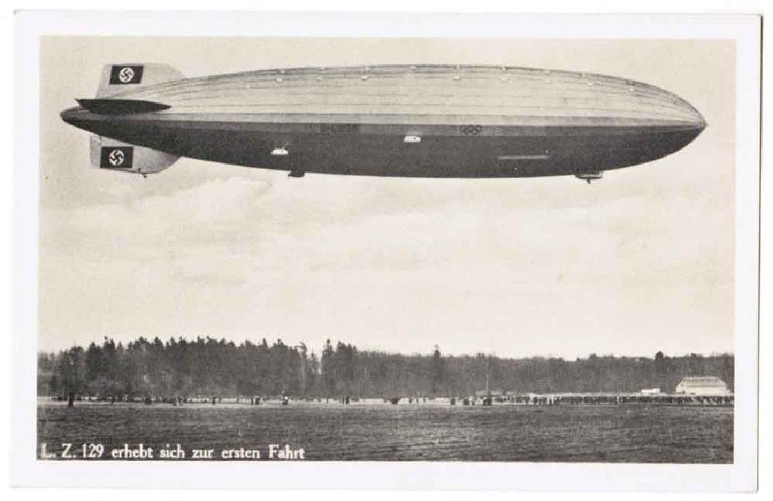 German WW2 NAZI DEUTSCHLAND Postcard Zeppelin, 1939 - 2